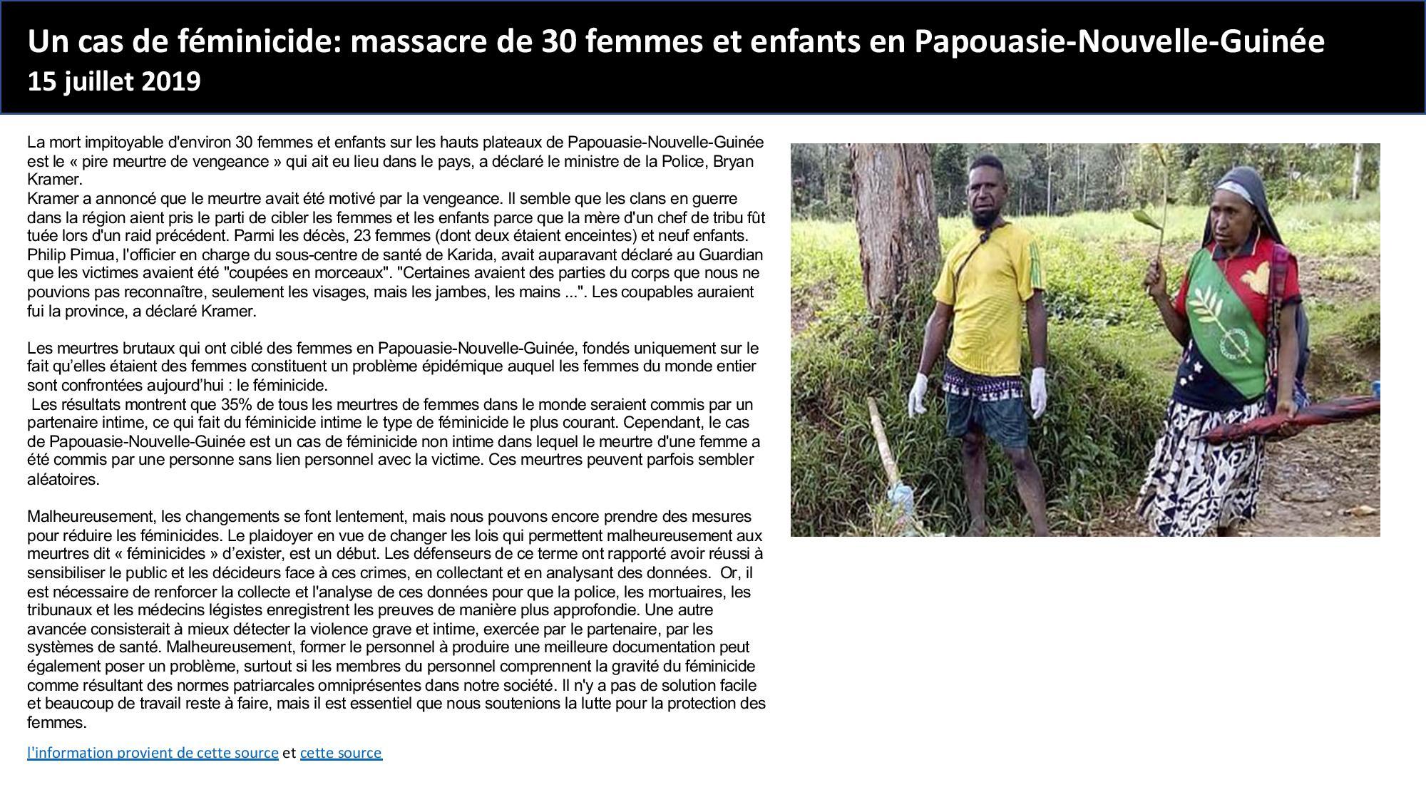 Papouasie new Guinea 15.07.19