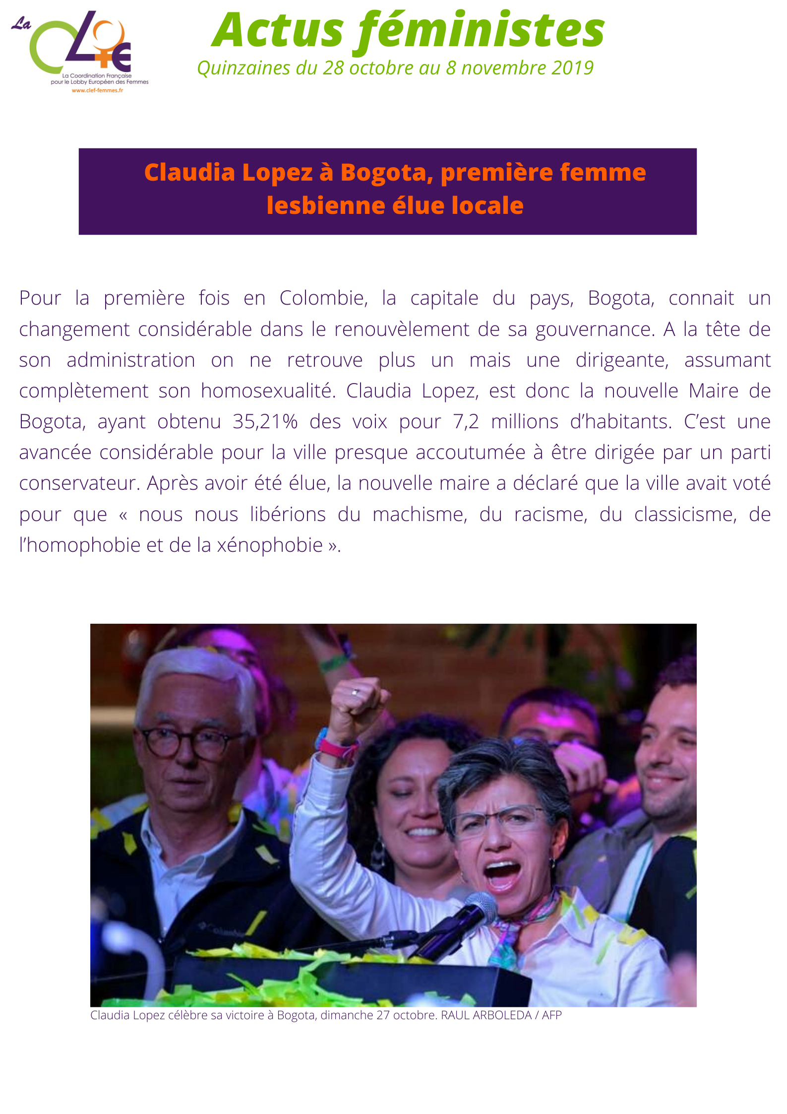 BOGOTA - quinzaine 28.10-08.11-2019