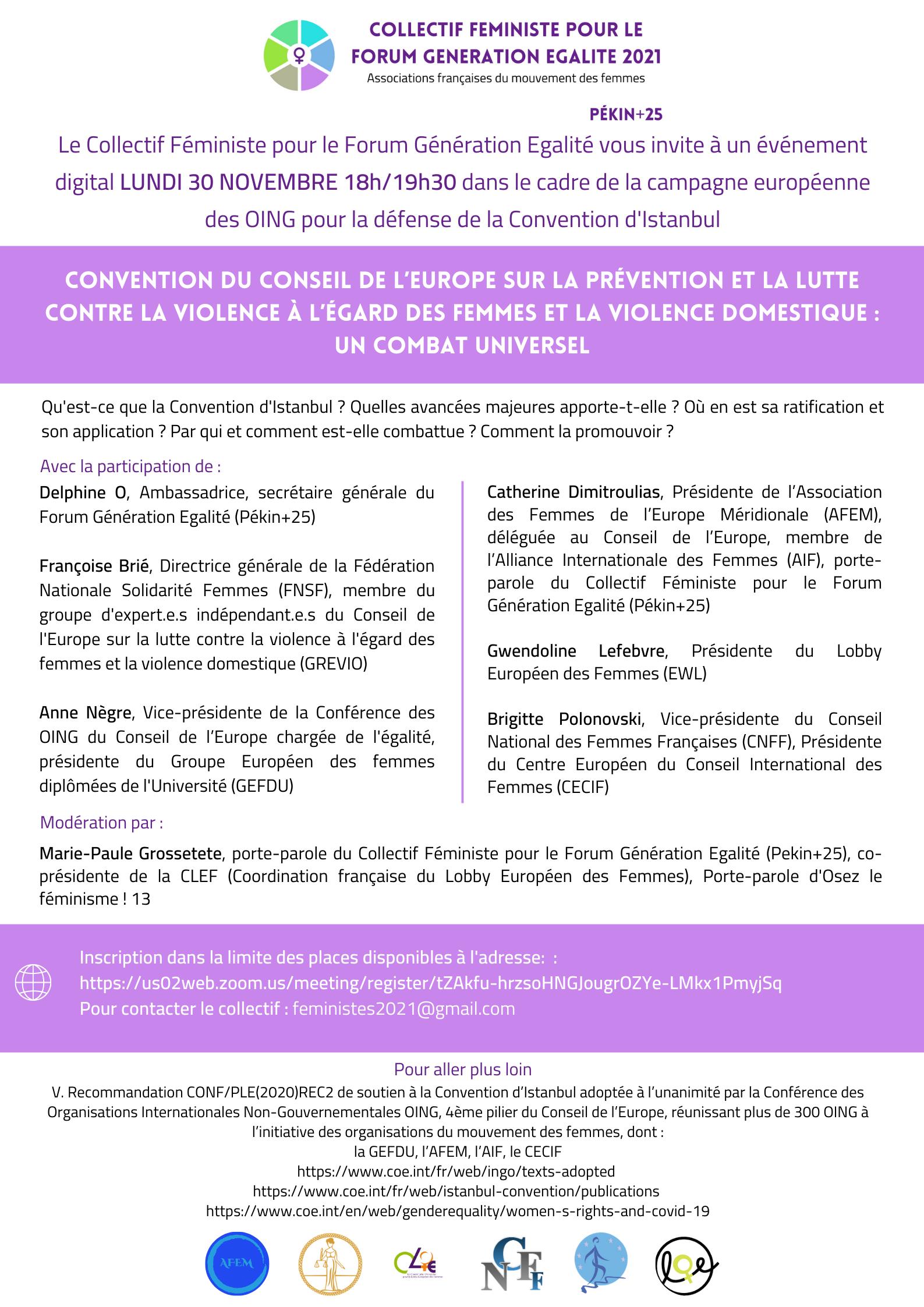 Conférence du collectif FGE 2021 - Visuel affiche invitation
